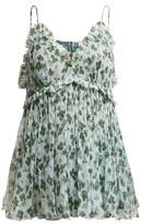 Lee Mathews - Nina Floral-print Silk Cami Top - Womens - Green Multi