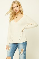 Forever 21 FOREVER 21+ Ribbed Knit V-Neck Top