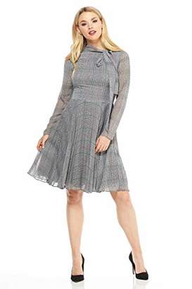 Maggy London Women's Plaid Chiffon Fit and Flare