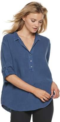 Rock & Republic Women's Popover Tunic Shirt