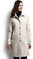 Lands' End Women's Tall Basketweave Wool Coat-Medium Gray Heather