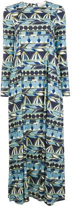 La DoubleJ geometric print maxi dress