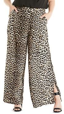 Estelle Plus Shelter Printed Wide-Leg Pants
