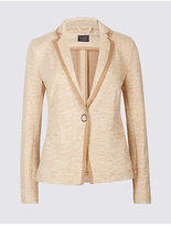 M&S Collection Textured Stretch Blazer