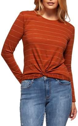 Dex Long Sleeve Front Twist Top