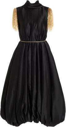J.W.Anderson Satin Bubble-Hem Dress