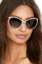 LuLu*s Berkeley Gold and Black Sunglasses