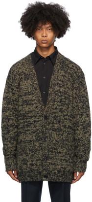 Dries Van Noten Khaki Big Knit Cardigan