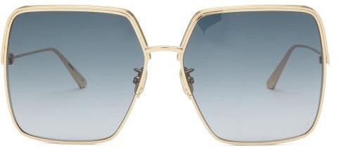 Christian Dior Everdior Round Metal Sunglasses - Blue Gold