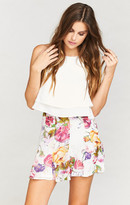 MUMU Skater Stretch Skirt ~ Best Friend Floral