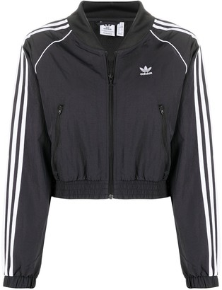 adidas Adicolor cropped bomber jacket