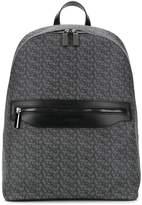 Canali logo print backpack