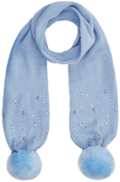 Monsoon Sparkle Bead Pom Pom Scarf