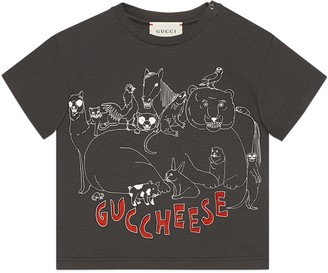 Gucci Baby 'Guccheese' animal print T-shirt