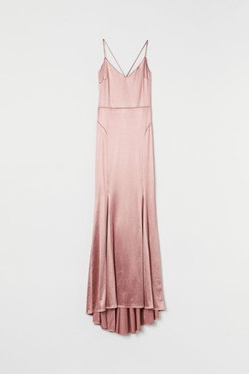 H&M Long V-neck Dress - Pink