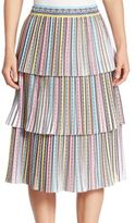 Mary Katrantzou Baccarat Multicolor Tiered Skirt
