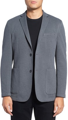 Vince Camuto Solid Two Button Notch Lapel Performance Blazer