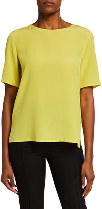 Etro Silk Short-Sleeve Shell