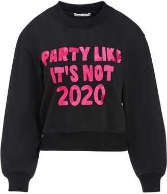 Alice + Olivia Slogan Print Sweatshirt