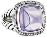 David Yurman Diamond & Moon Quartz Albion Ring