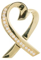 Tiffany & Co. 18K Yellow Gold Paloma Picasso Large Diamond Gold Heart Pin