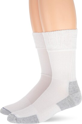 Dr. Scholl's Unisex-Adult's Advanced Relief Non-Binding Crew Socks 2 Pair