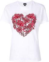 Just Cavalli roses print T-shirt