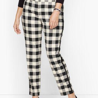 Talbots Plus Size Exclusive Hampshire Ankle Pants - Buffalo Check