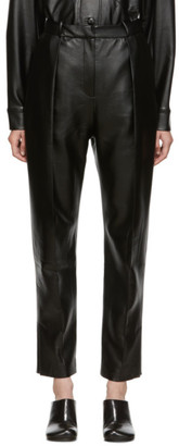 MATÉRIEL SSENSE Exclusive Black Vegan Leather Trousers