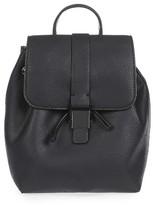Topshop Mini Glasgow Faux Leather Backpack - Black