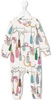 Mini Rodini tassels print romper - kids - Organic Cotton/Spandex/Elastane - 12 mth