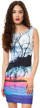 Style Hunter The Lagoon Sunset Mini Dress