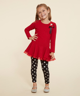 Dollie & Me Red & Black Top Set & Doll Outfit - Girls