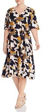 Junarose Plus Printed V-Neck Dress