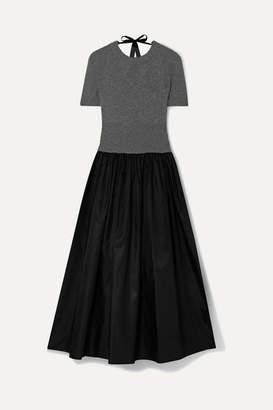 Prada Cashmere And Shell Midi Dress - Dark gray