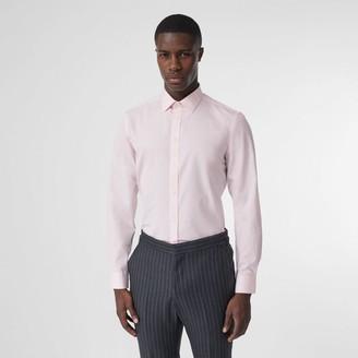 Burberry Slim Fit Monogram Motif Cotton Poplin Shirt
