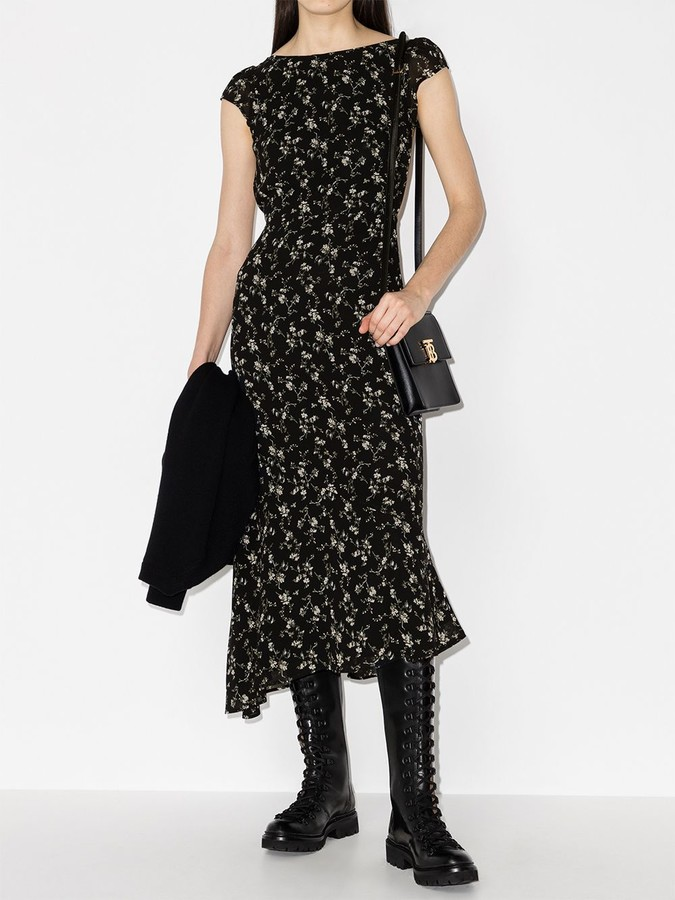 Thumbnail for your product : Reformation Underwood floral-print dress
