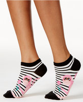 Kate Spade Women's Striped Monkey No-Show Socks