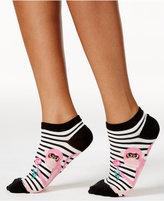 Kate Spade Women's Striped Monkey No-Show Socks