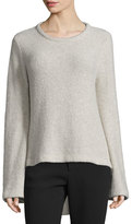 Co Long-Sleeve High-Low Sweater, Hazel