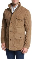 Peter Millar Suede Safari Jacket, Beige