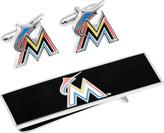 Cufflinks Inc. Men's Miami Marlins Cufflinks and Money Clip Gift Set