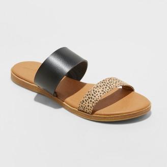 Universal Thread Womens Torri Two Band Slide Sandals - Universal ThreadTM