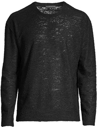 John Varvatos Burnout Crewneck Sweater