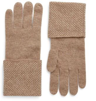 William Sharp Swarovski-Crystal-Embellished Cashmere Gloves