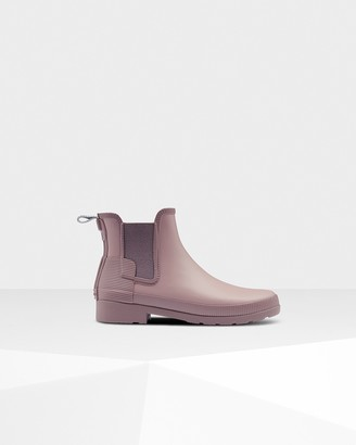 Hunter Women's Refined Texture Block Slim Fit Chelsea Boots