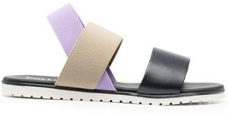 Pollini Colour-Blocked Slingback Sandals