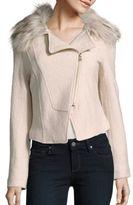 Bagatelle Faux Fur-Trimmed Bomber Jacket