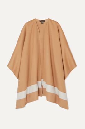 Loro Piana Striped Cashmere Poncho - Camel
