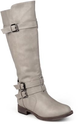 Journee Collection Bite Ruched Riding Boot
